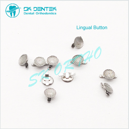 Lingual Button with Double Wings