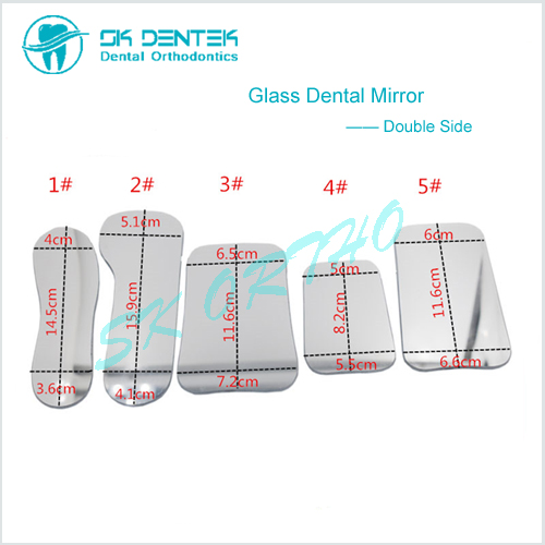 Dental Orthodontic Double Side Mirror Reflector Dentistry Intra Oral Glass Coated Photography Mirrors