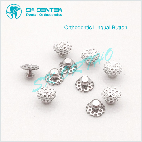 Orthodontic Bondable Lingual Button Perforated Mesh Base Lingual Button with Holes
